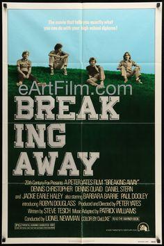 Breaking Away 1979 27x41 Original Movie Poster Peter Yates-Dennis Quaid