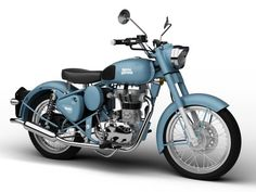 Royal Enfield Classic Squadron Blue 2016 Model in Motorcycle Enfield Bike, Enfield Motorcycle, Motorcycle Style, Motorcycle Engine, Classic 350 Royal Enfield, Enfield Classic, Royal Enfield Bullet, Vintage Motorcycles, Vintage Bicycles