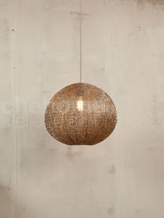 Hanging lamp 30cm w/ nickle wire.