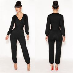 Elegant Long Sleeve Bodysuit with Pockets - J20Style - 1