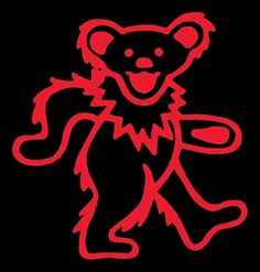 Greatful Dead bear decal by VisualAppeals on Etsy, $4.00