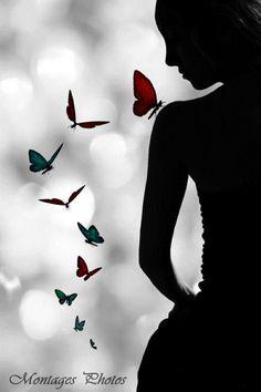 Butterfly Wallpaper, Butterfly Art, Butterflies, Surreal Photos, Butterfly Pictures, Beautiful Nature Wallpaper, Silhouette Art, Acrylic Art, Belle Photo