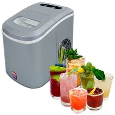 Portable Ice Maker Counter-top Ice Machine With 2 Selectable Cube Size Compact #PortableIceMaker