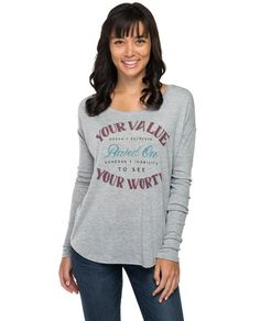 Your Value Flowy Long Sleeve Tee – Sevenly