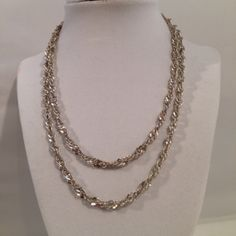Vintage Sterling Silver 925 Long 36 Inch Twist by JewelryGeeks, $79.99