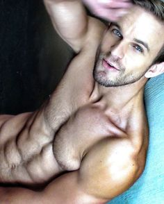 WHAT A HOT HANDSOME HUNK OF A MAN...VERY HOT BODY ON THIS DUDE....NICE HAIRY CHEST...WHAT A STUD
