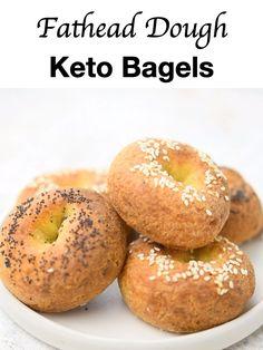 Low Carb Bagels, Keto Bagels, Keto Bread, Low Carb Keto, Low Carb Recipes, Diet Recipes, Healthy Recipes, Bread Baking, Donut Flavors