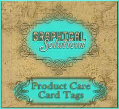 Product Care Card Hang Price TagsCustom by GraphicalSolutions, $5.99