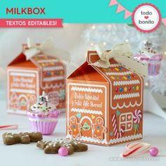 Dulce Navidad: milkbox Gingerbread, Decorative Boxes, Christmas, Wine Tags, Xmas, Napkin Holders, Invitations, Ginger Beard, Weihnachten