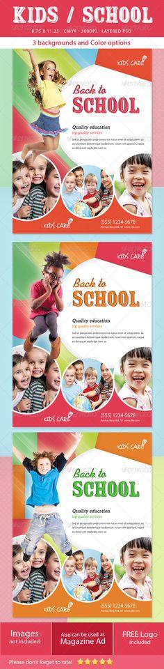 Kids / School Flyer - Print Templates