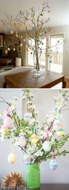 24. Make an adorable egg tree for your Easter table. Top 27 Cute and Money Saving DIY Crafts to Welcome The Easter