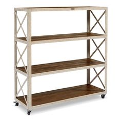 Open industrial shelving units were functional pieces in the workplaces of yesterday, and today we love the vintage look and purpose of these great…