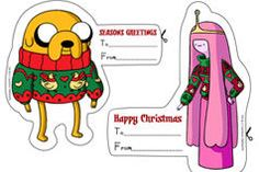 Printable Adventure Time Holiday Gift Tags via http://www.cartoonnetwork.co.uk/show/adventure-time/downloads
