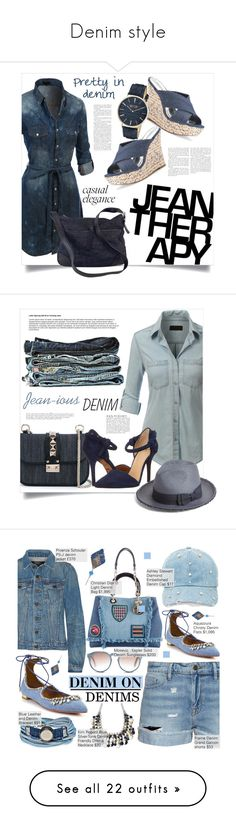 """Denim style"" by danielle-broekhuizen ❤ liked on Polyvore featuring LE3NO, Therapy, Jennifer Lopez, Prada, SO & CO, Valentino, Joe's Jeans, Helene Berman, Anja and Platadepalo"