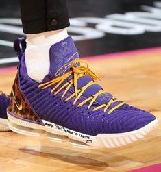 "920e8ba1624  sneakers on court on Instagram  ""Lakers vs Heat"