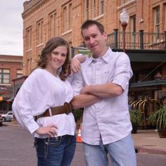 Mindy & Steven's engagement in Fort Worth's historic Stockyards.  Fort Worth engagement photos