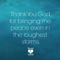 Thank God for the peace in the roughest storms  https://www.facebook.com/TrustintheLord356/photos/1172302406157190
