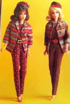 "Sears Exclusive ""Weekenders"" #1815 fashion from 1967. On the left is the production version, on the right is the prototype."