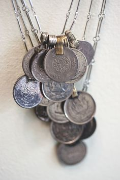 Multiple Coin necklace - tribal - ethnic inspired