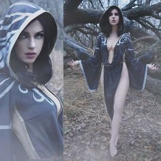 Nocturnal, from Skyrim!  Swipe for WIPs! Made in 2017 by modifying a robe pattern; I used @beebichu 's tutorial as inspiration. I painted…