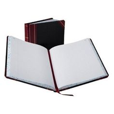 Boorum & Pease 21 Series Columnar Book, Record, 300 Page, Black/Red (21-300-R)