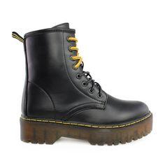 Αρβυλάκια Chloe μαύροαπό συνθετικό δέρμα.Είναι διακοσμημένα με μαύρο και κίτρινο κορδόνι που αλλάζουν ανάλογα με το outfit σας ενώ ταυτόχρονα ... Chloe, Dr. Martens, Combat Boots, Fashion, Moda, Combat Boot, Fashion Styles, Fashion Illustrations, Amphibians