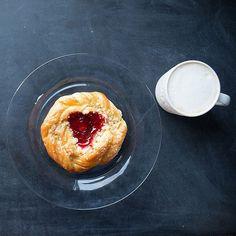 Beautiful example of food photography. Foodie, food blog, food porn. #danish and coffee.