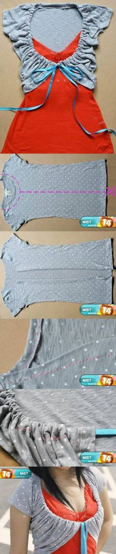 DIY Shirt Makeover diy easy crafts diy crafts how to tutorial craft clothes teen crafts crafts for teens refashion