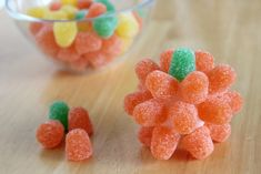 These are gumdrop pumpkins, but if you mixed up the colors, you would totally have Everlasting Gobstoppers!