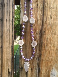 Genuine Amethyst Deer Antler and Arrowhead by TineDesignsByMindi Custom Jewelry, Handmade Jewelry, Antler Jewelry, Deer Antlers, Tassel Necklace, Amethyst, Jewelry Design, Deer Horns, Personalized Jewelry