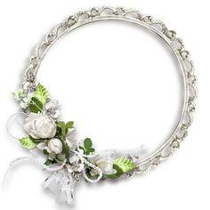 White Round Flowers Transparent Frame