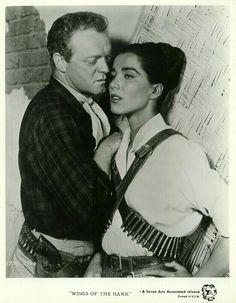 WINGS OF THE HAWK (1953) - Shot in 3-D - Van Heflin & Julie Adams - Directed by Bud Boeticher - Universal-International - Publicity Still.