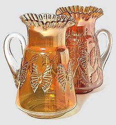 fenton pitchers   Butterfly and Fern Prototype Pitcher, Fenton