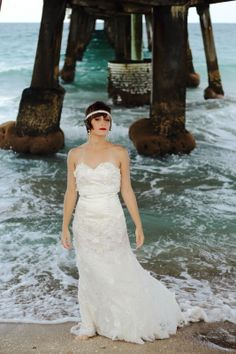 { HALI ROSE PHOTOGRAPHY } - South Florida Wedding Photographer. 1920's inspired vintage bride at the beach