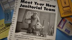 Mike and Sulley, working their way up at Monsters, Inc. Disney And Dreamworks, Disney Pixar, Animated Cartoon Movies, Mike And Sulley, Monster University, Janitorial, Sulli, Monsters Inc, Disney Magic