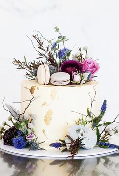 Exquisite Mini Wedding Cakes For Your Inspiration ★ mini wedding cakes wild flower on cake cake ink wedding cakes 33 Exquisite Mini Wedding Cakes Gallery Inspire