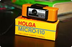 It's 110! And super tiny and cute! I can't wait to process the first roll of film. (; #camera #holga #photography #110 #film  #yellow