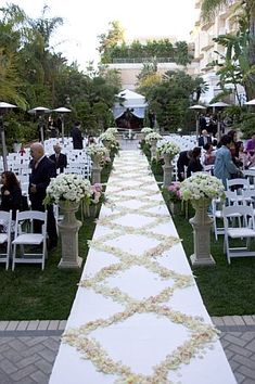 white Wedding aisle flower décor, wedding ceremony flowers, pew flowers, wedding flowers, add pic source on comment and we will update it. www.myfloweraffair.com can create this beautiful wedding flower look.
