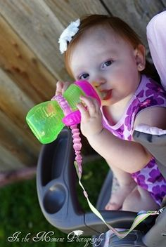 Sippy Catcher by Paci Catchers $7.99 with free shipping at Sweetbottoms Baby Boutique