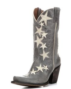 American Rebel Boot Company Women's Colt Ford Rock Star Boot - Aged Blue Jean