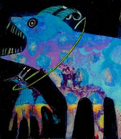 Elke Trittel acrylic collage 20x25cm