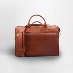 MISOUI Handcrafted Leather Briefcase