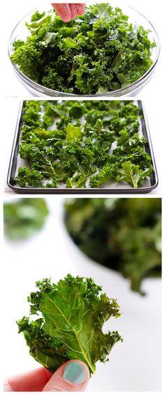 Sea Salt and Vinegar Kale Chips #vinegar #kale #chips
