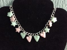 Charm Bracelet. Charms are made from Fimo Gemstone Effect in Rose Quartz and Ice Blue - basic, but love wearing it :)