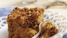 Mmm! Treat yourself to a quick homemade coffee cake that's loaded with a crunchy nutty topping and lots of maple flavor.