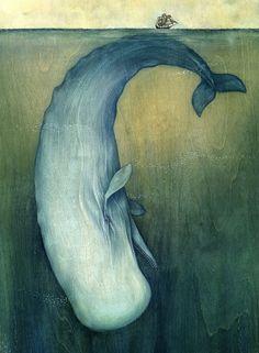 Moby Dick by Lisel Jane Ashlock (Artist on tumblr)