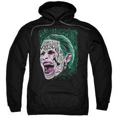 Suicide Squad Prince Portrait Adult Hoodie - Officially Licensed - High Quality - 75% Cotton / 25% Polyester Blend - Premium Ringspun Cotton - Double-Needle Cuffs - Pouch Pocket Also Available in: Adu