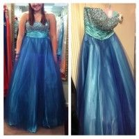 Blue Alexia Designs dress listed on promagain.com #prom #promagain #formal #dress #resale #buy #sell #cheap #preowned