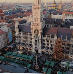 Christmas markets from above in Munich