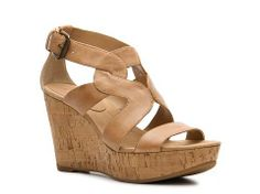 Bandolino Eamon Wedge Sandal Women's Casual Sandals Sandals Women's Shoes - DSW- $70. also comes in a fabulous taupe colour!!